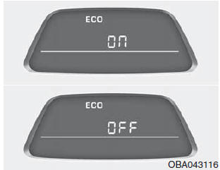 Hyundai Grand i10 - Mode ECO ON/OFF